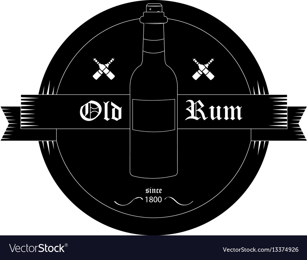 Black bottle emblem vector image