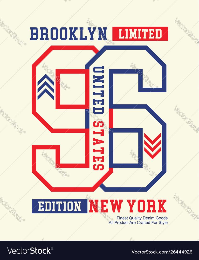 Brooklyn new york 96 typography design