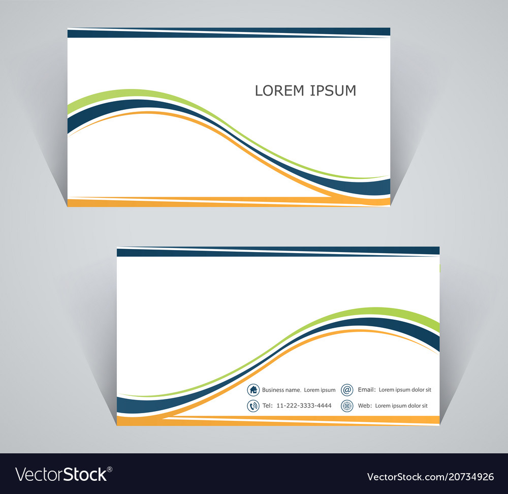 Business card simple template with stripes