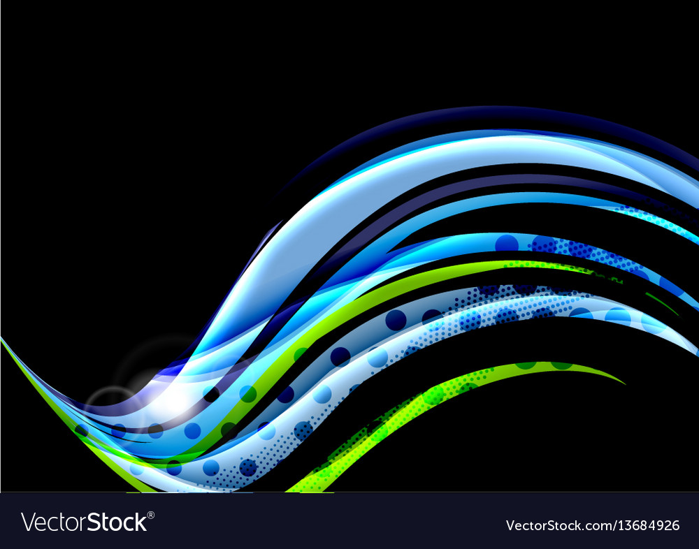 Colorful wave lines with light and shadow effects
