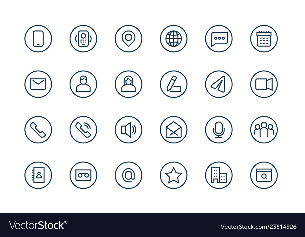 Contacts business icons email address user web