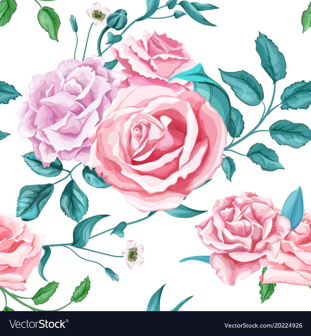 Flower rose seamless pattern