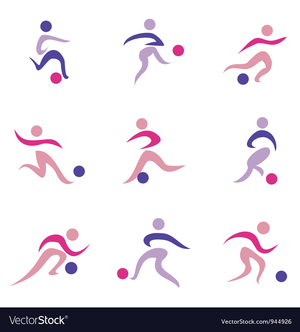 Football set of icons vector image