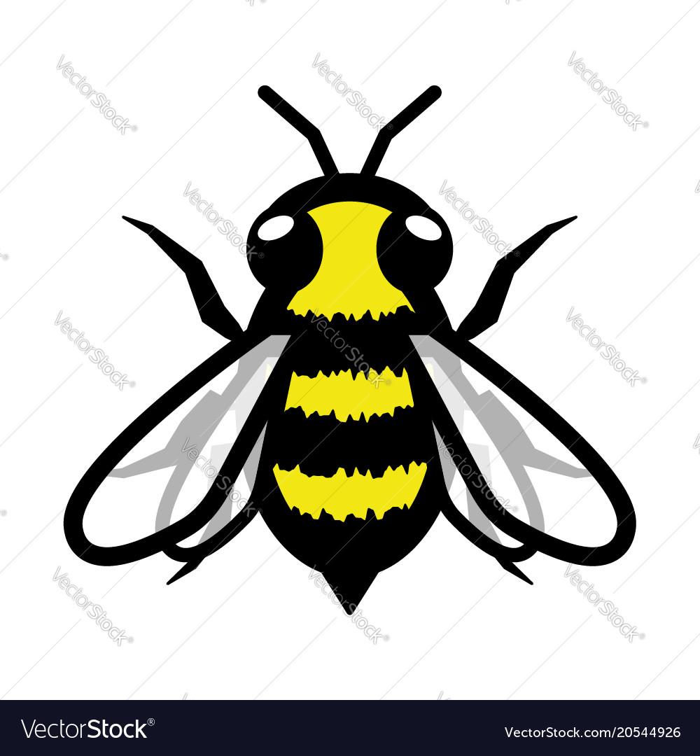 Fuzzy fluffy bee logo symbol icon sign