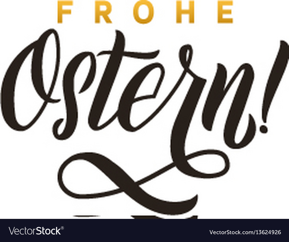 Happy easter hand lettering modern calligraphy
