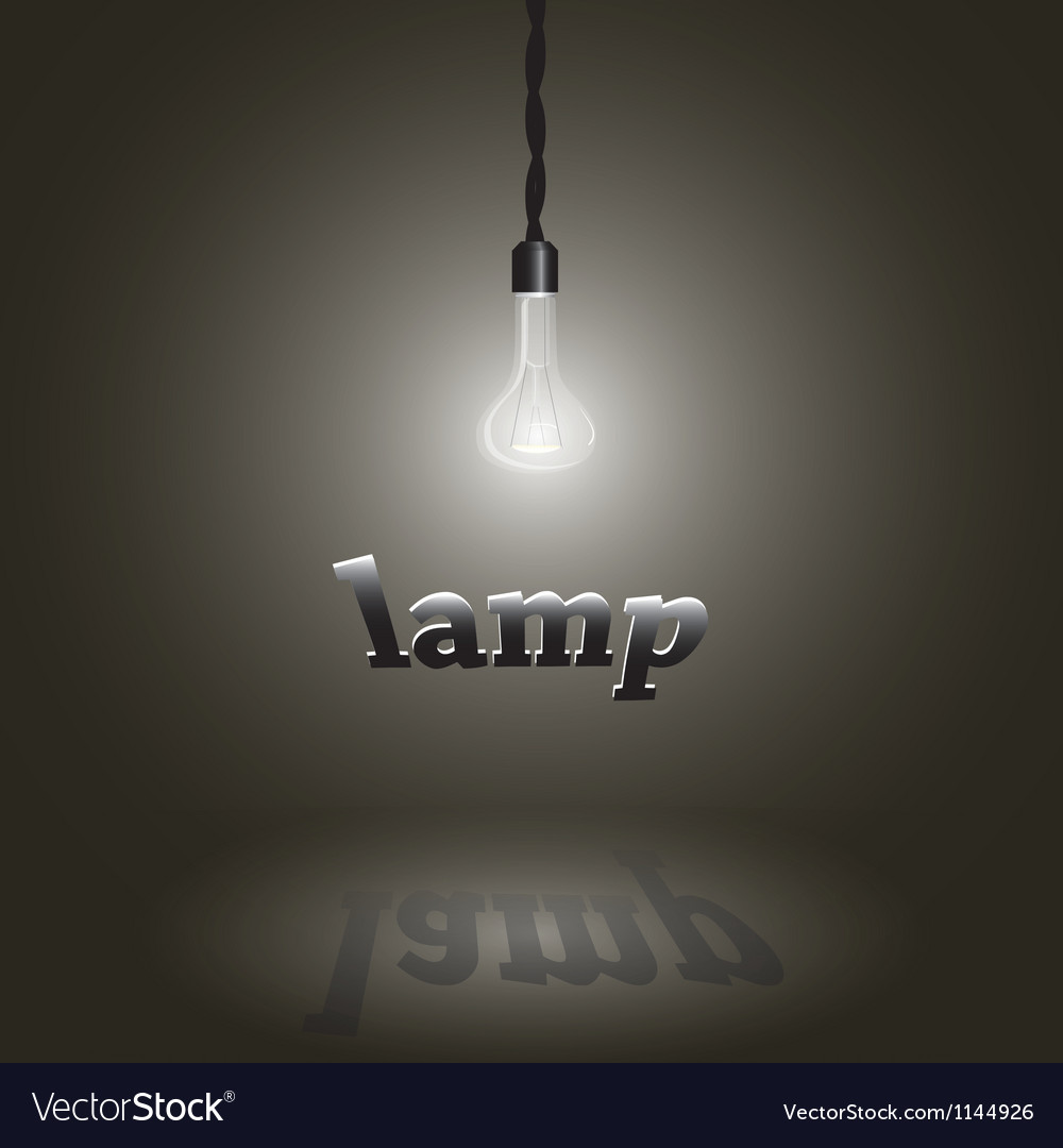 Image of a lamp vector image