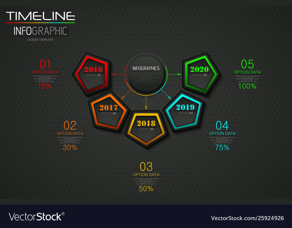Info graphics business template concept