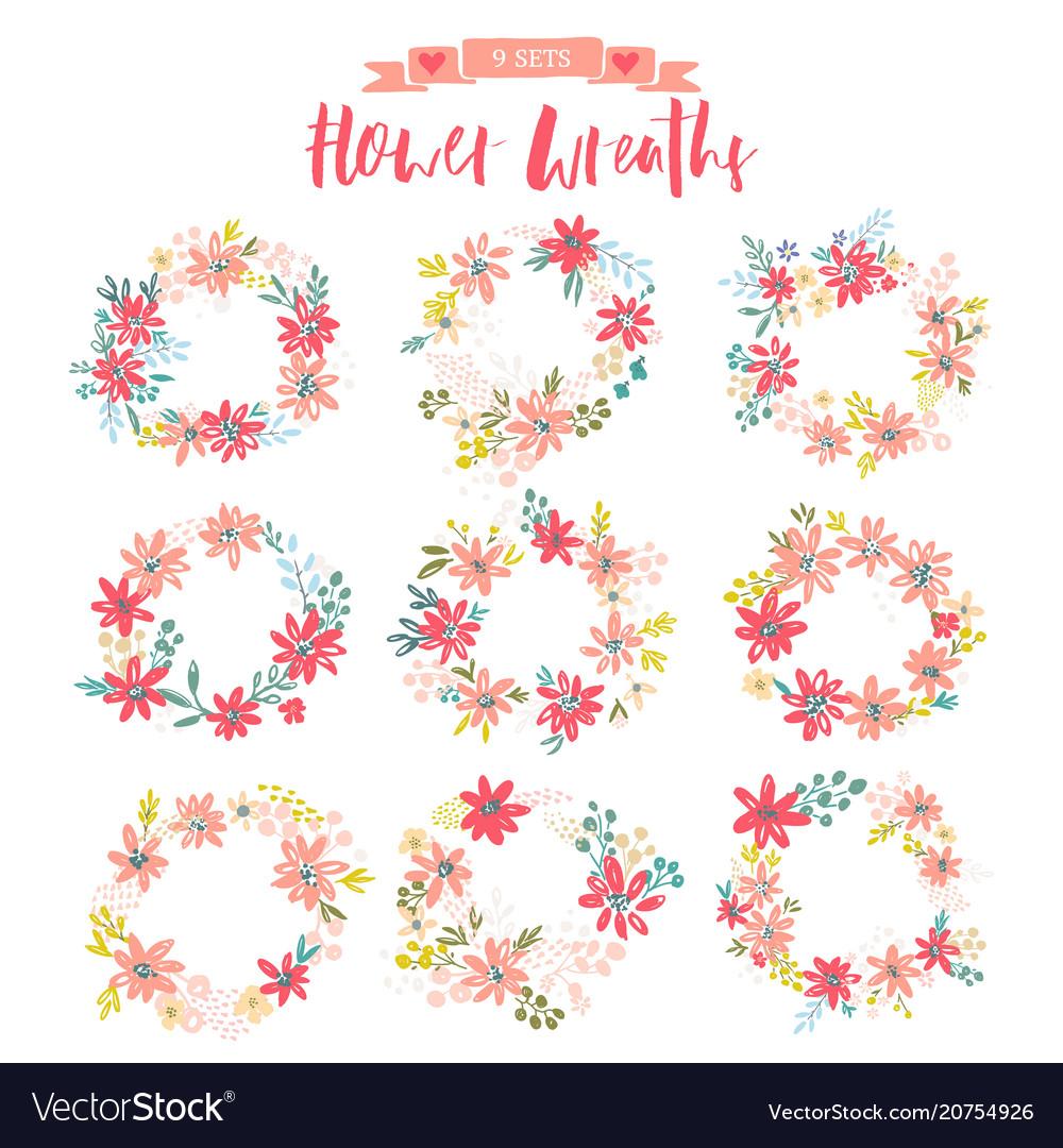 Set beautiful wreaths