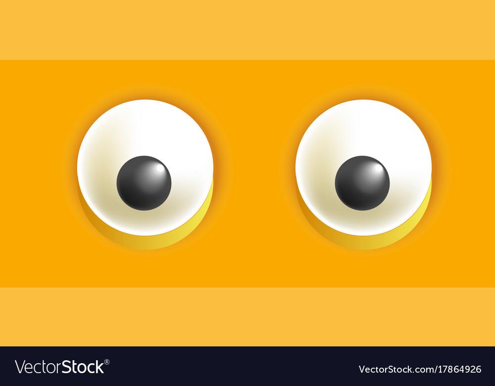 Smiley eyes isolated cartoon