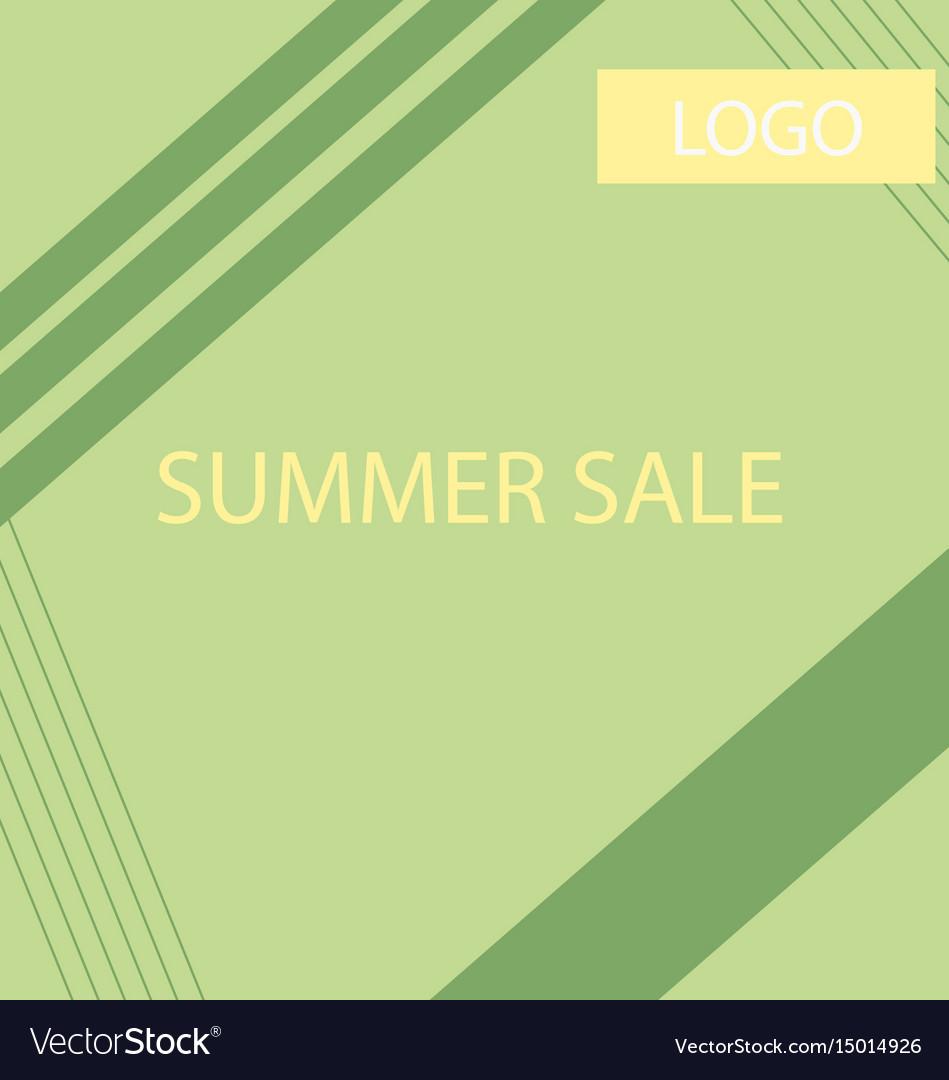 Summer sale geometric ad