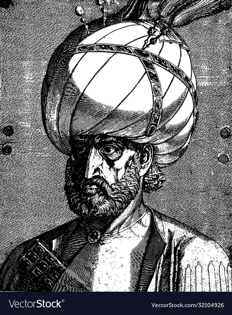 Vintage portrait suleiman magnificent