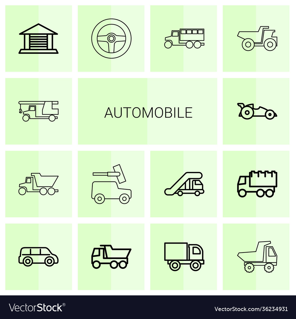 14 automobile icons