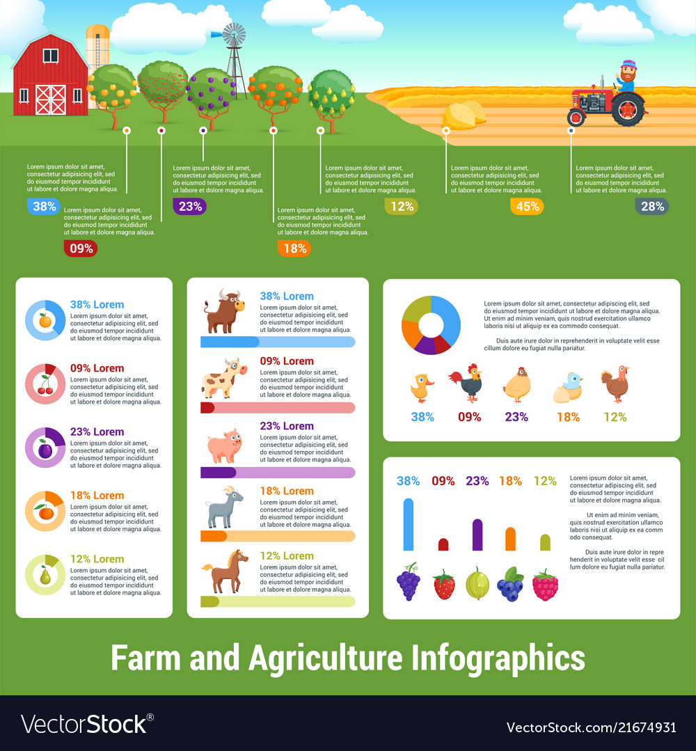 Agriculture and farming infographics