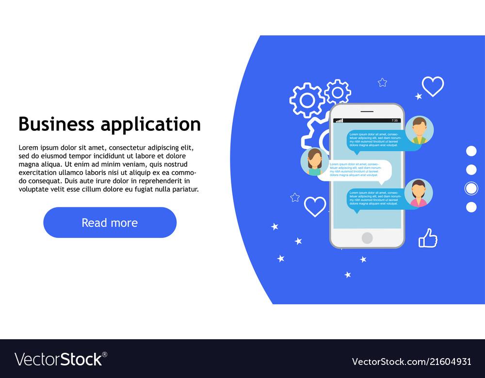 Business app technology phone icon web design