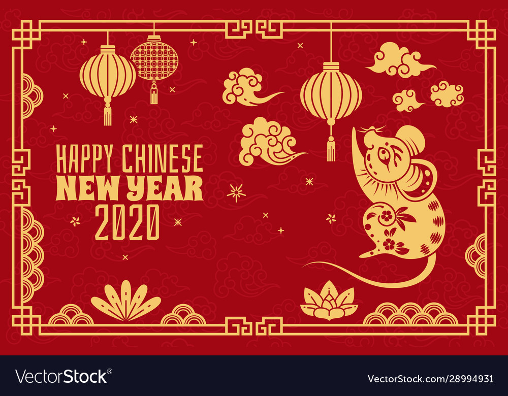 Chinese new year 2020 red concept