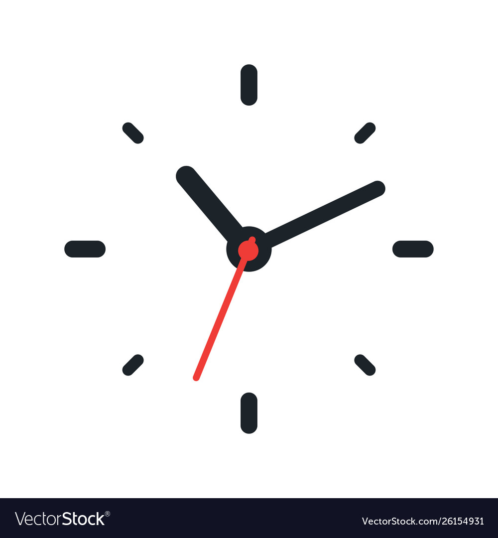 Clock face on white background