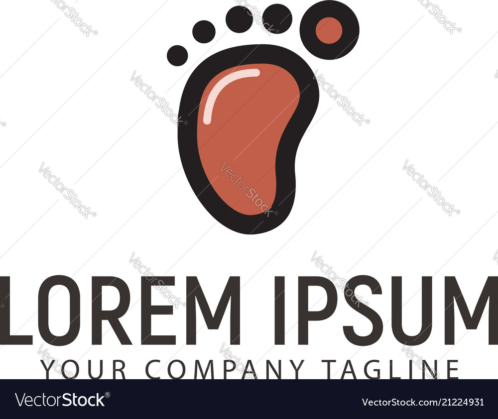 Minimalist footprint logo design concept template vector image