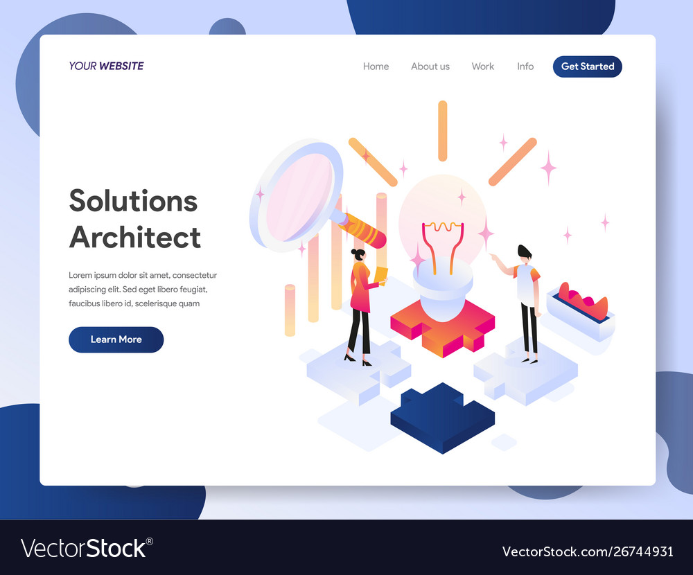 Solutions architect isometric concept