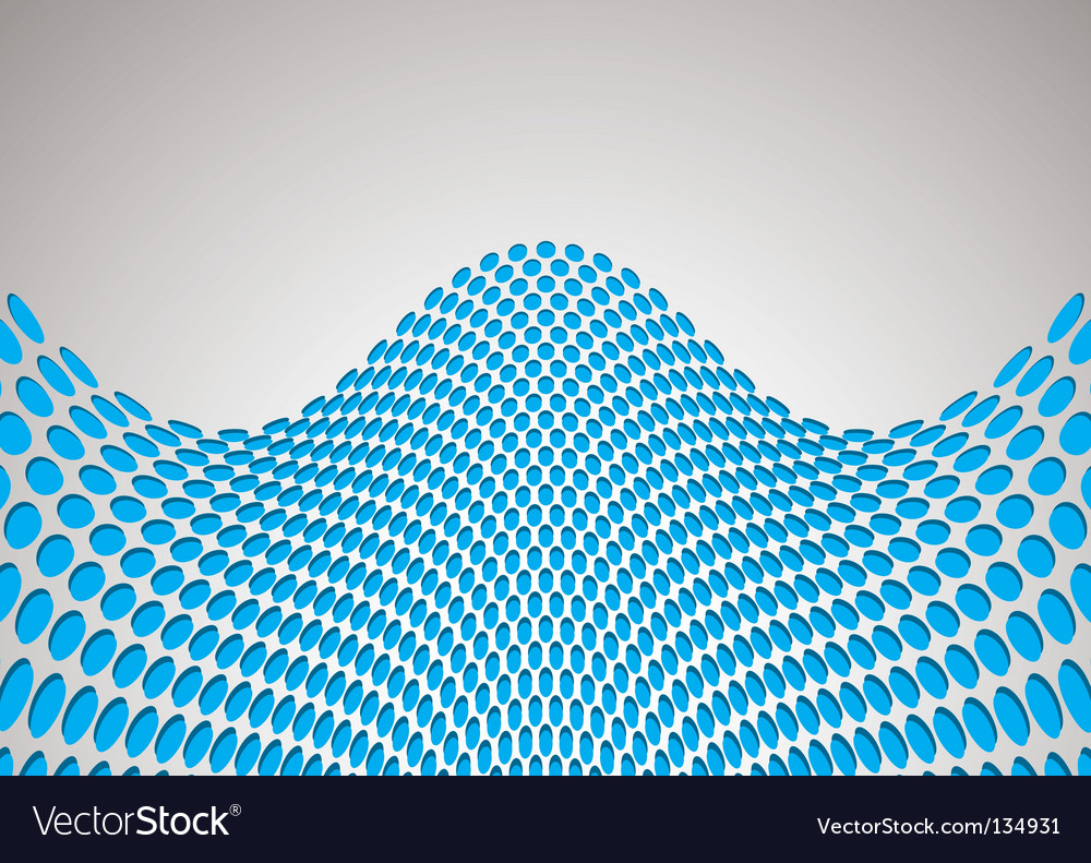 Wave bulge background vector image
