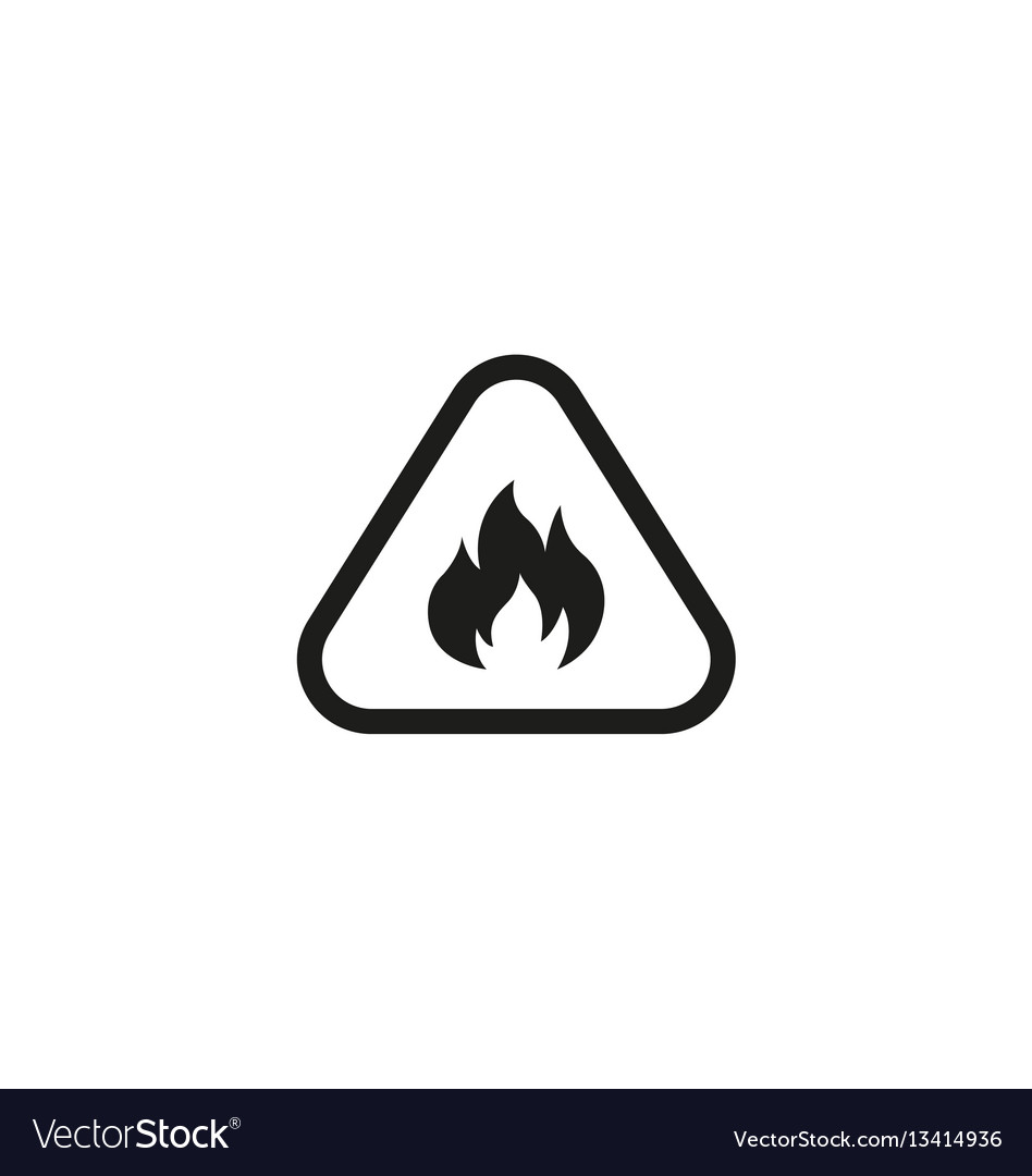 Attention fire isolated symbol on white background