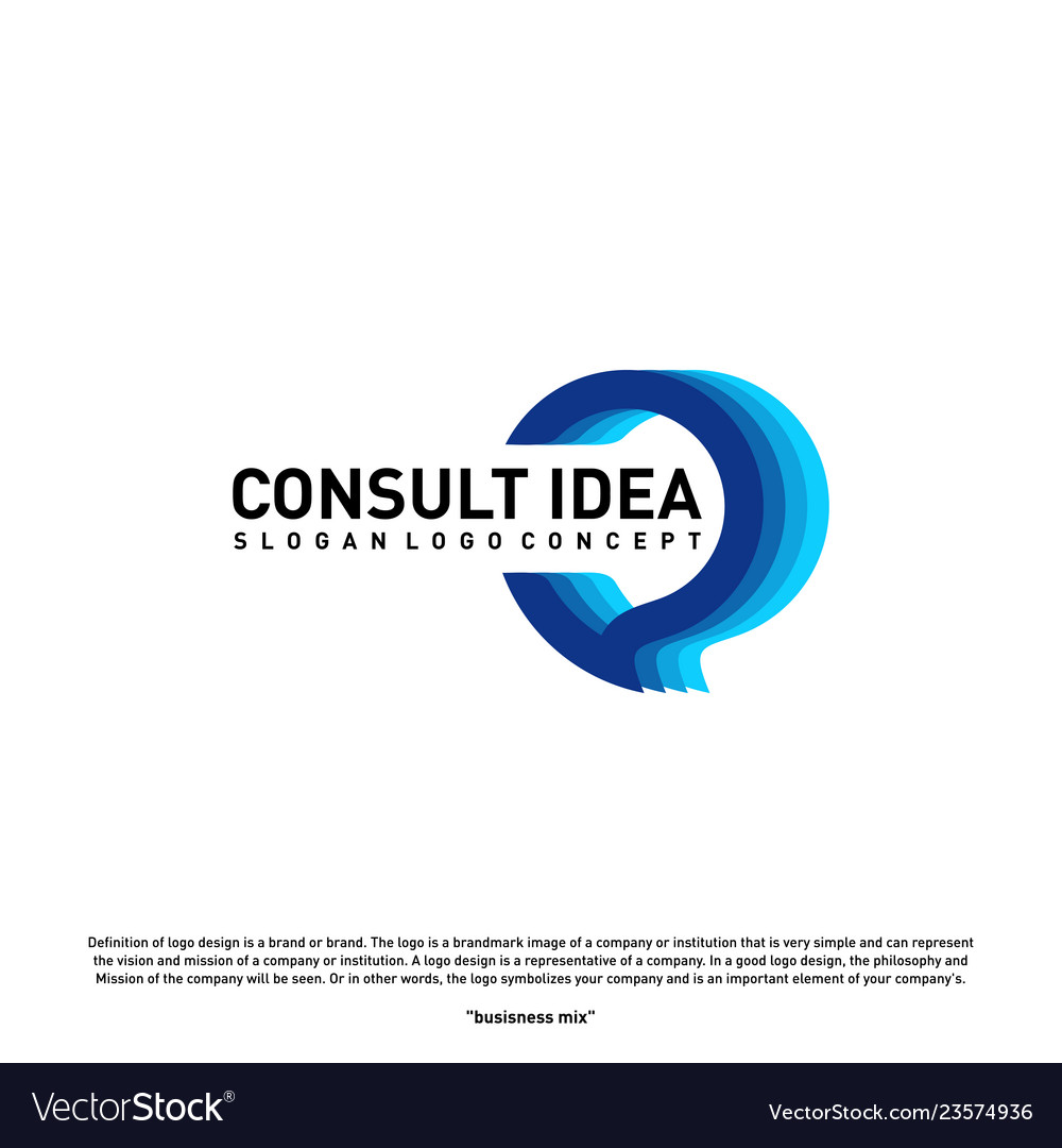 Modern business consulting agency logo design