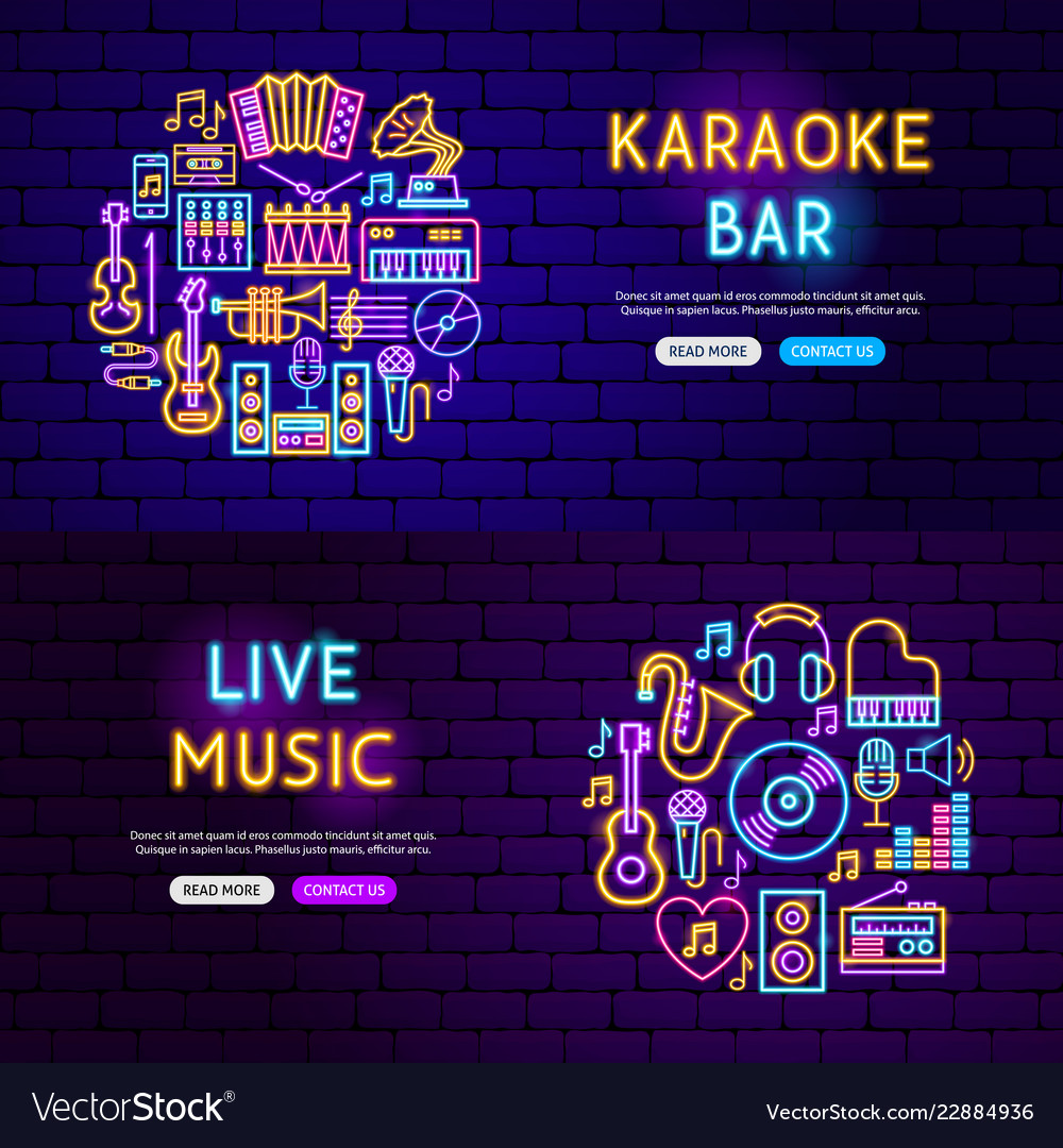 Music website banners