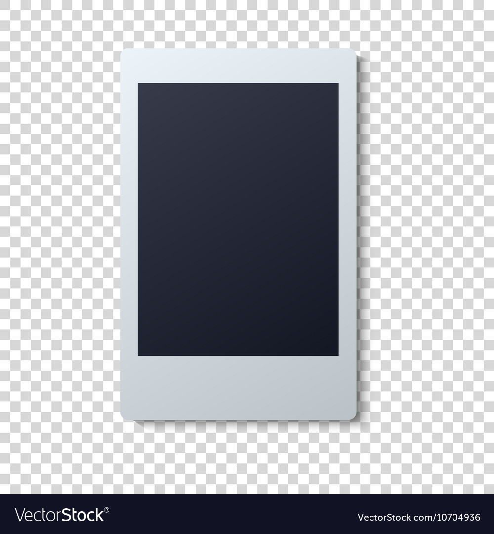 polaroid frame single royalty free vector image