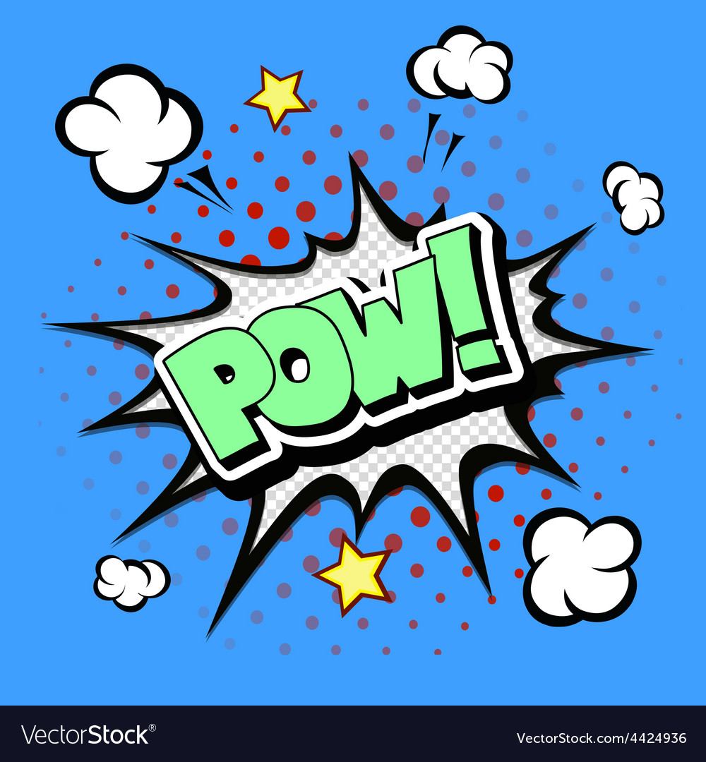 Pow - Comic Speech Bubble Cartoon