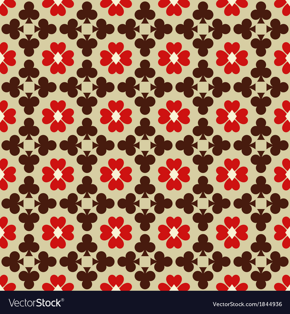 Seamless abstract pattern with card suits vector image