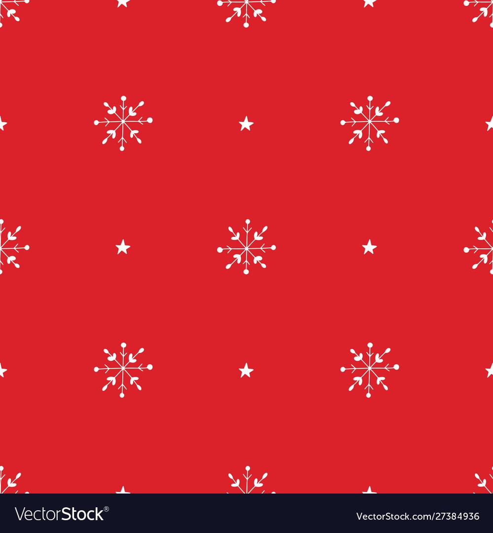 Simple classic xmas seamless pattern