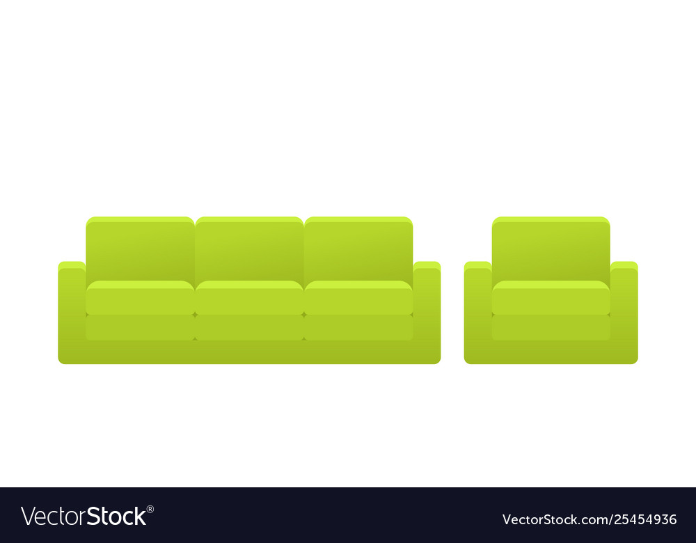 Sofa Armchair Couch Icon In Flat Design