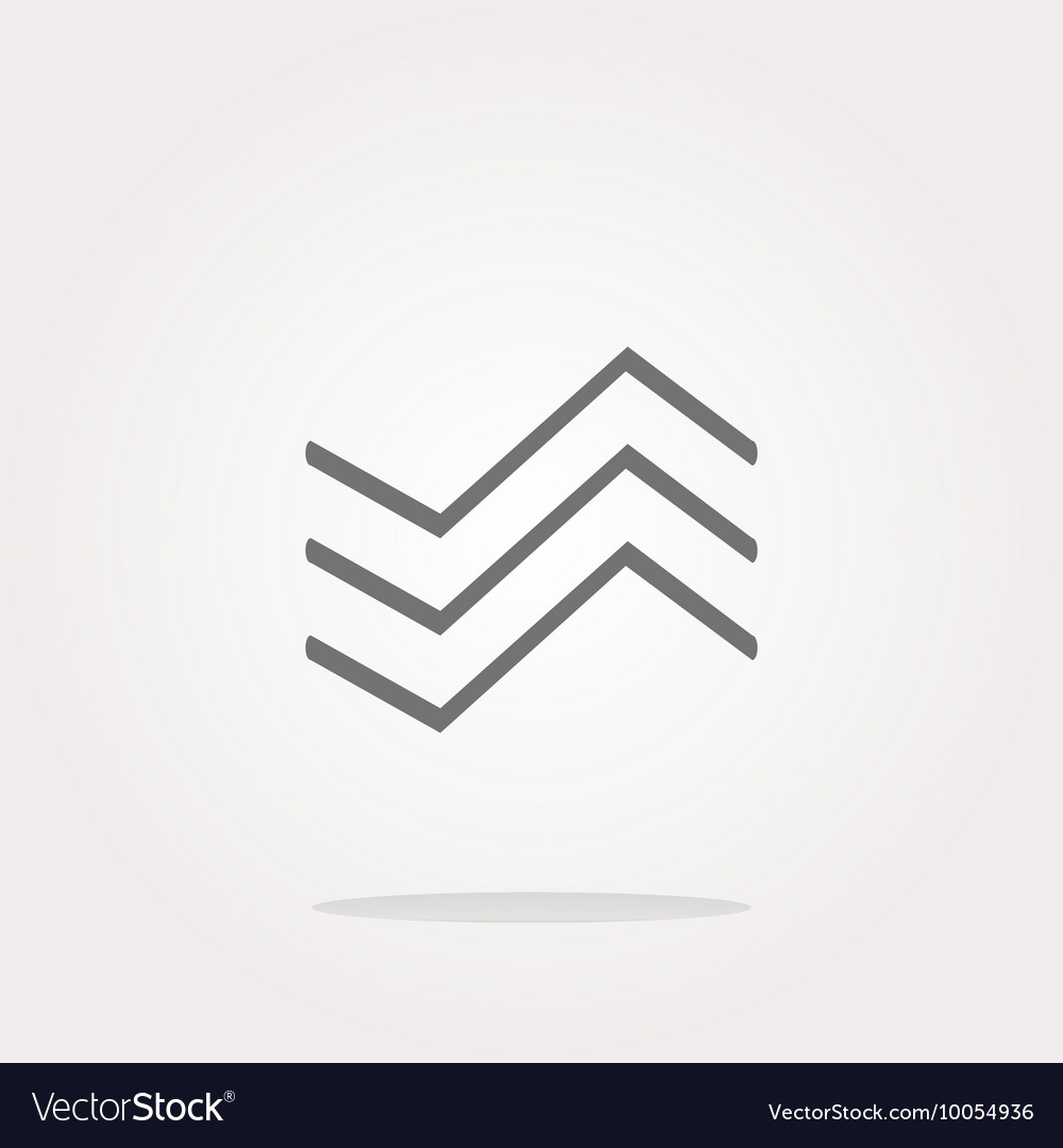 Wave web icon Application web button isolated on vector image