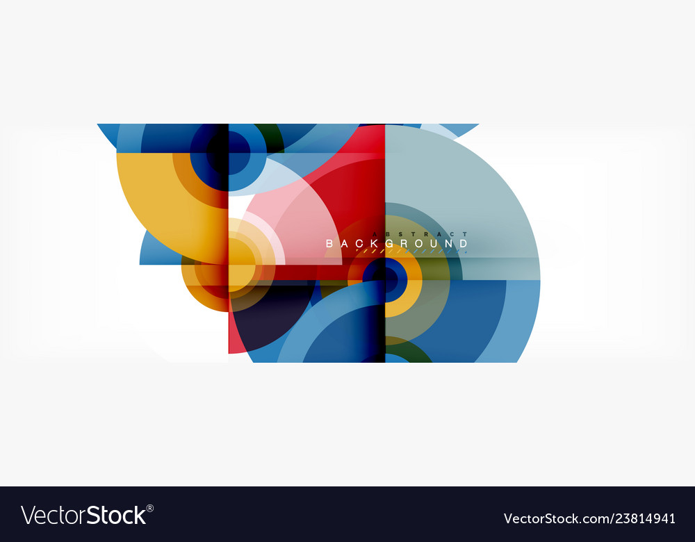 Circle abstract background with triangular shapes