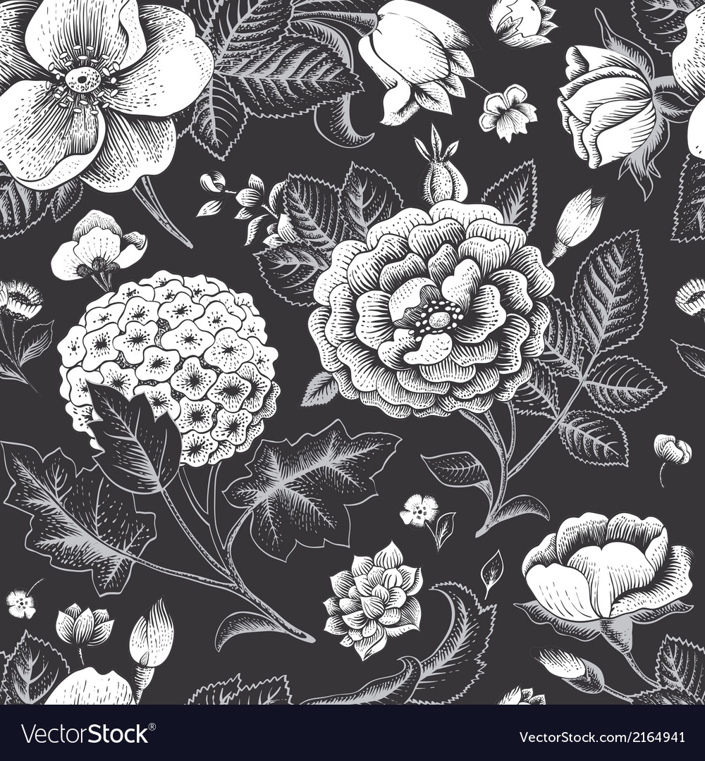 Floral and decorative background