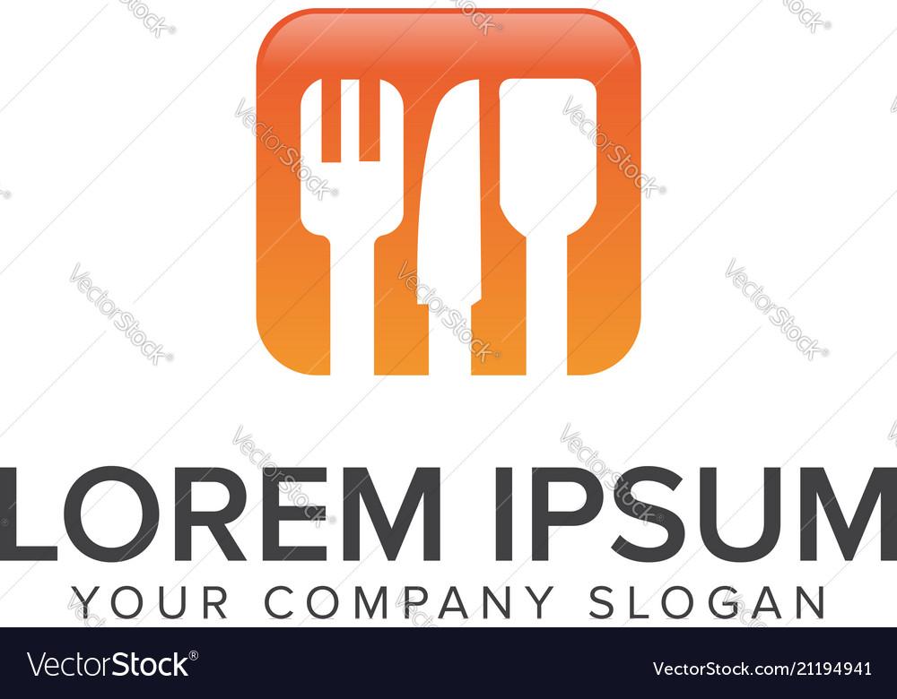 Kitchen tool logo design concept template
