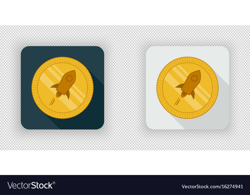 Light and dark stellar lumens crypto currency icon vector image