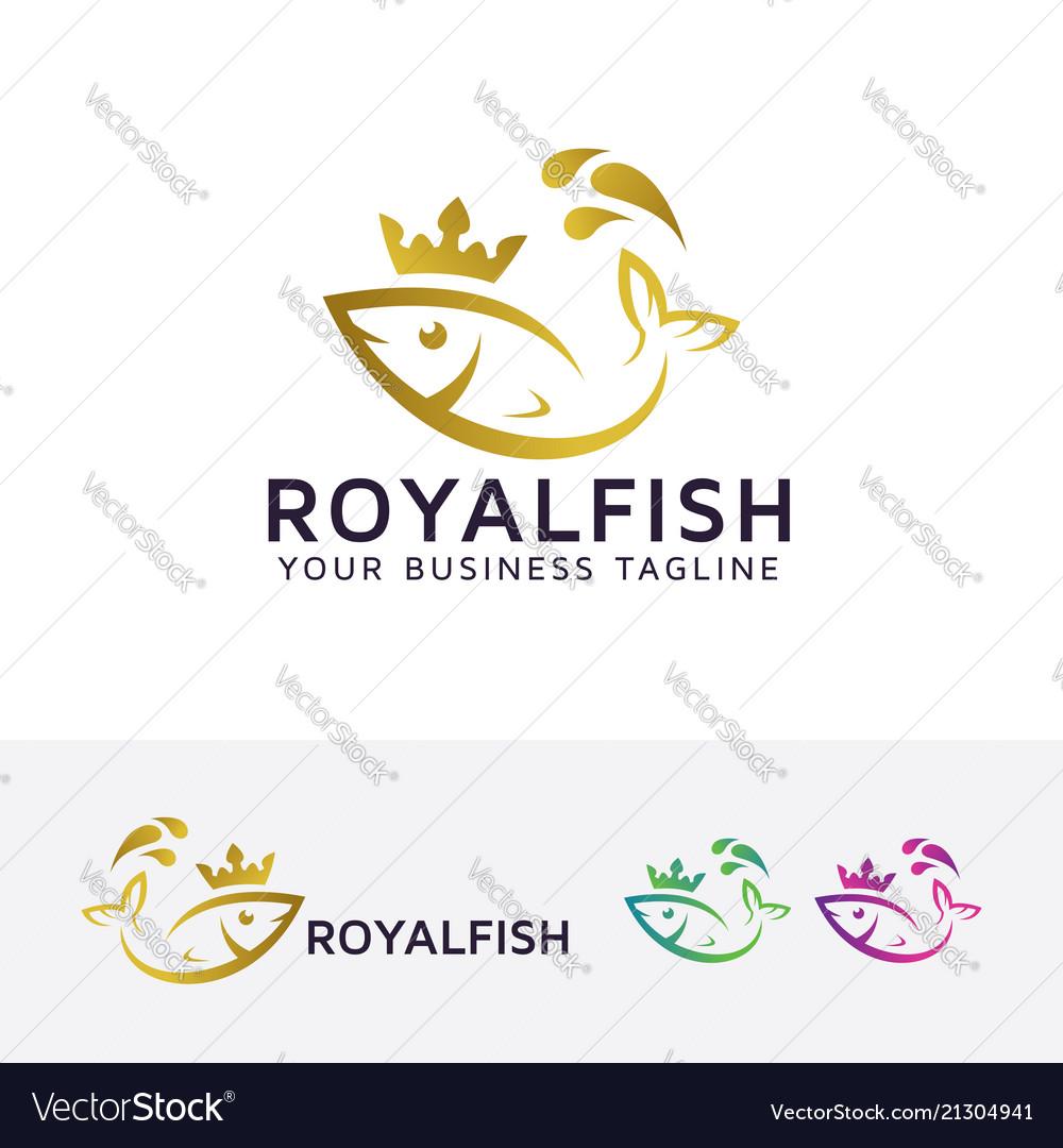 Royal fish logo design