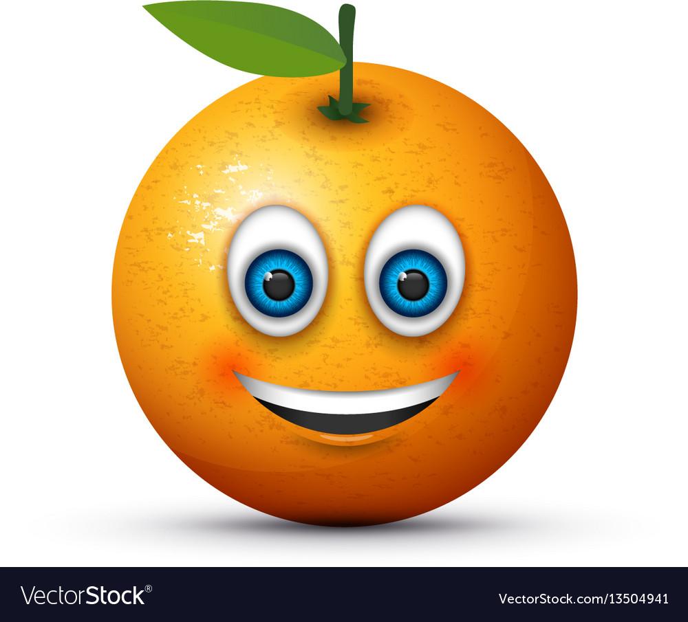 Smiling orange vector image