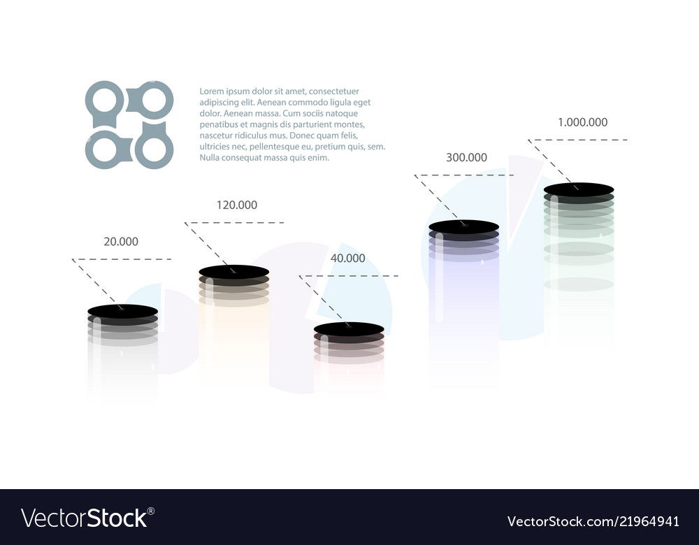 Techno logo infographic schedule of volume