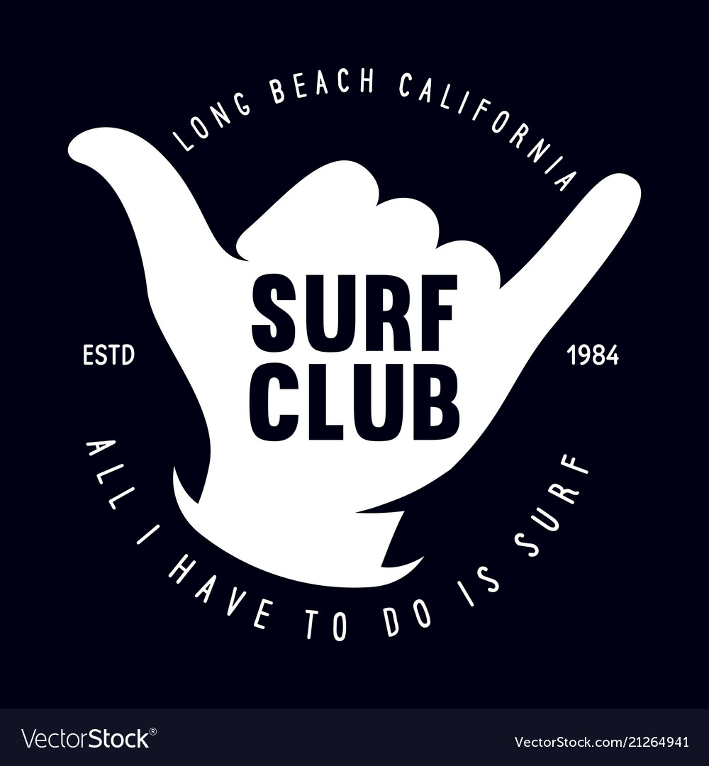 Vintage surfing emblem for web design or print