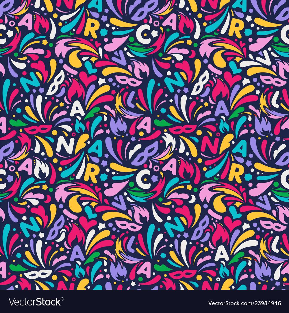 Colorful Abstract Seamless Pattern Brazilian