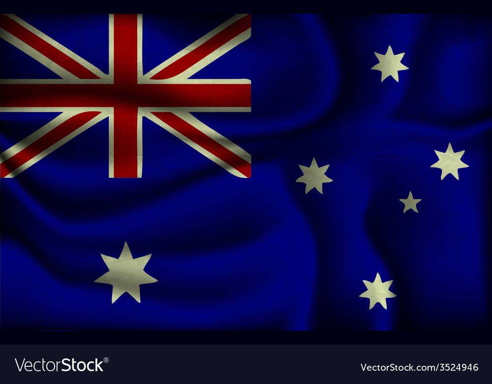 Crumpled flag of Australia