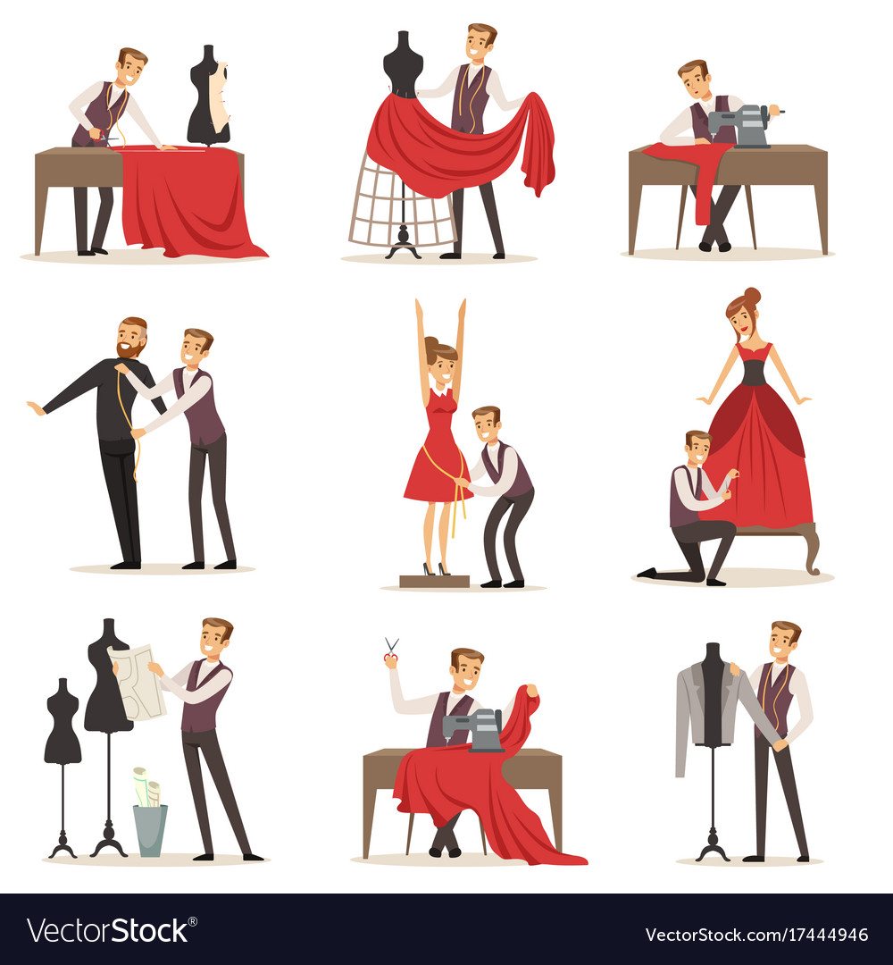 Dressmaker set male designer tailoring measuring