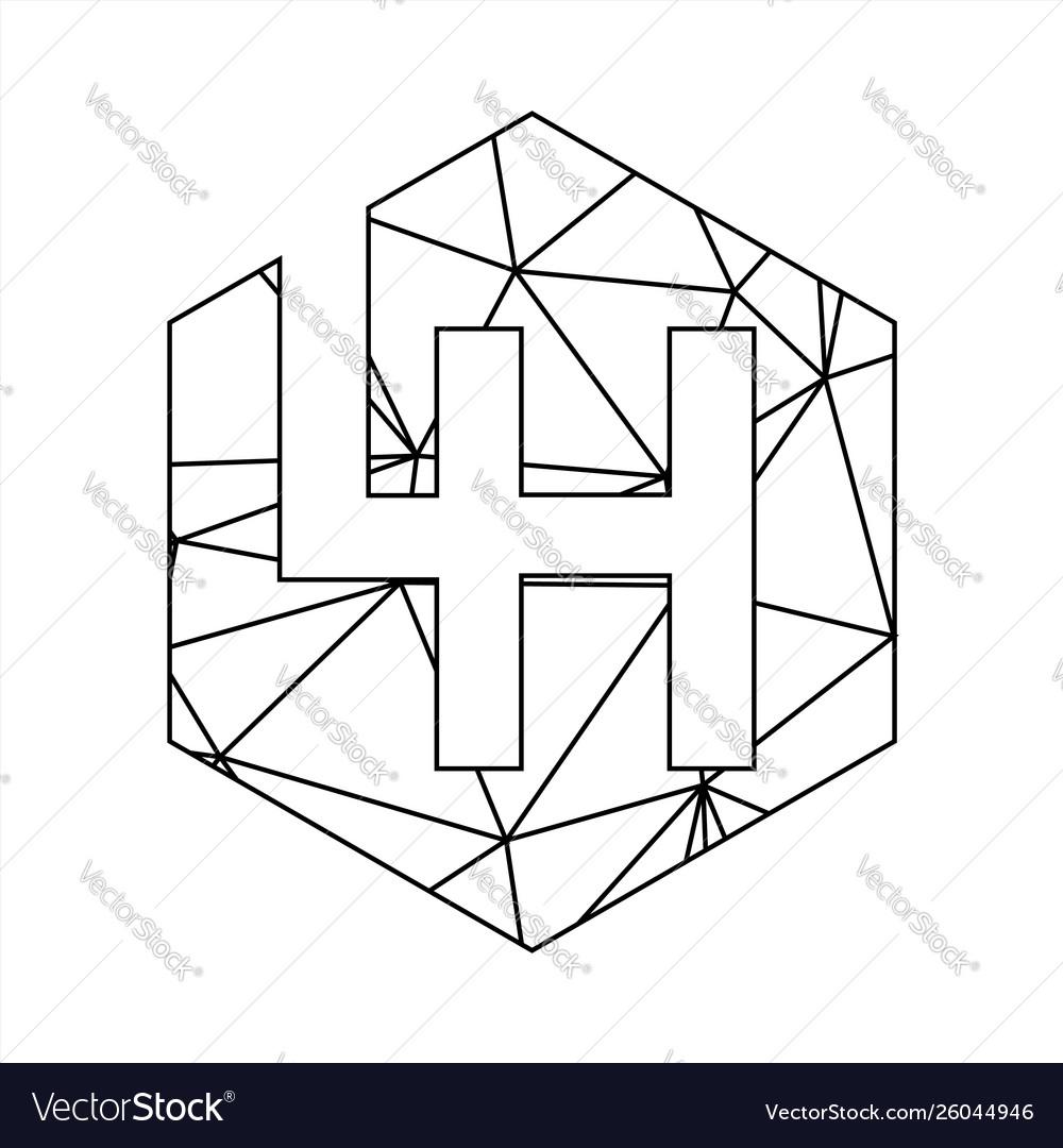 Lh geometric triangle block chain font