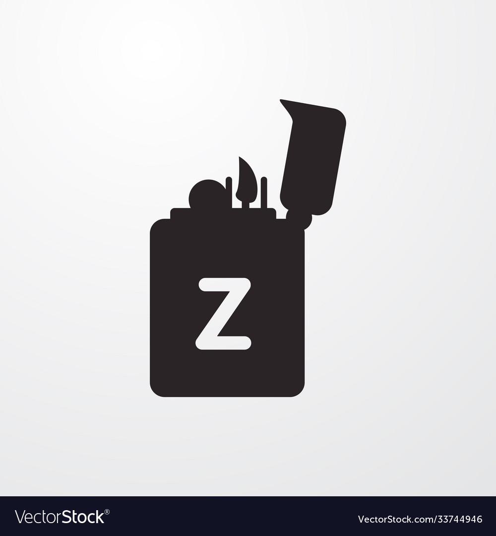 Lighter sign icon flat design style for we