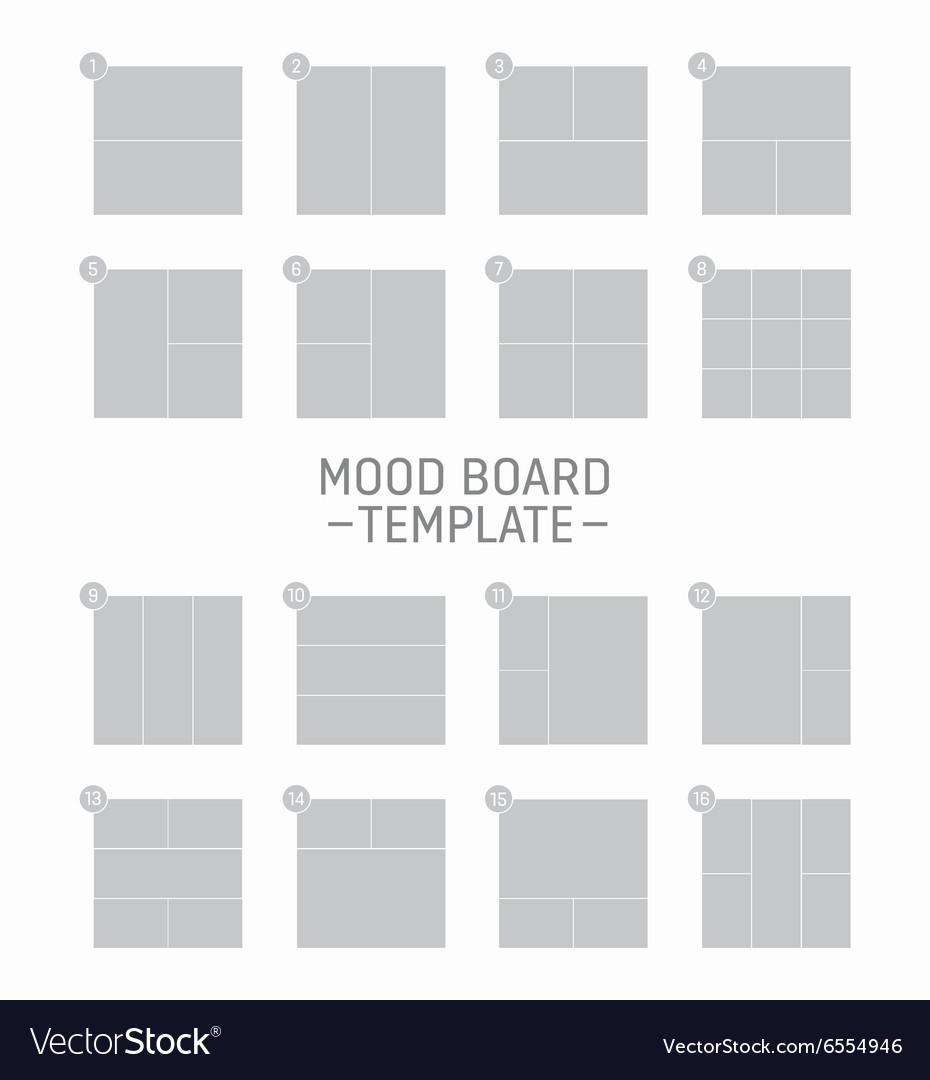 mood board template royalty free vector image vectorstock. Black Bedroom Furniture Sets. Home Design Ideas