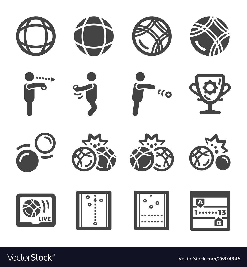 Petanque icon set