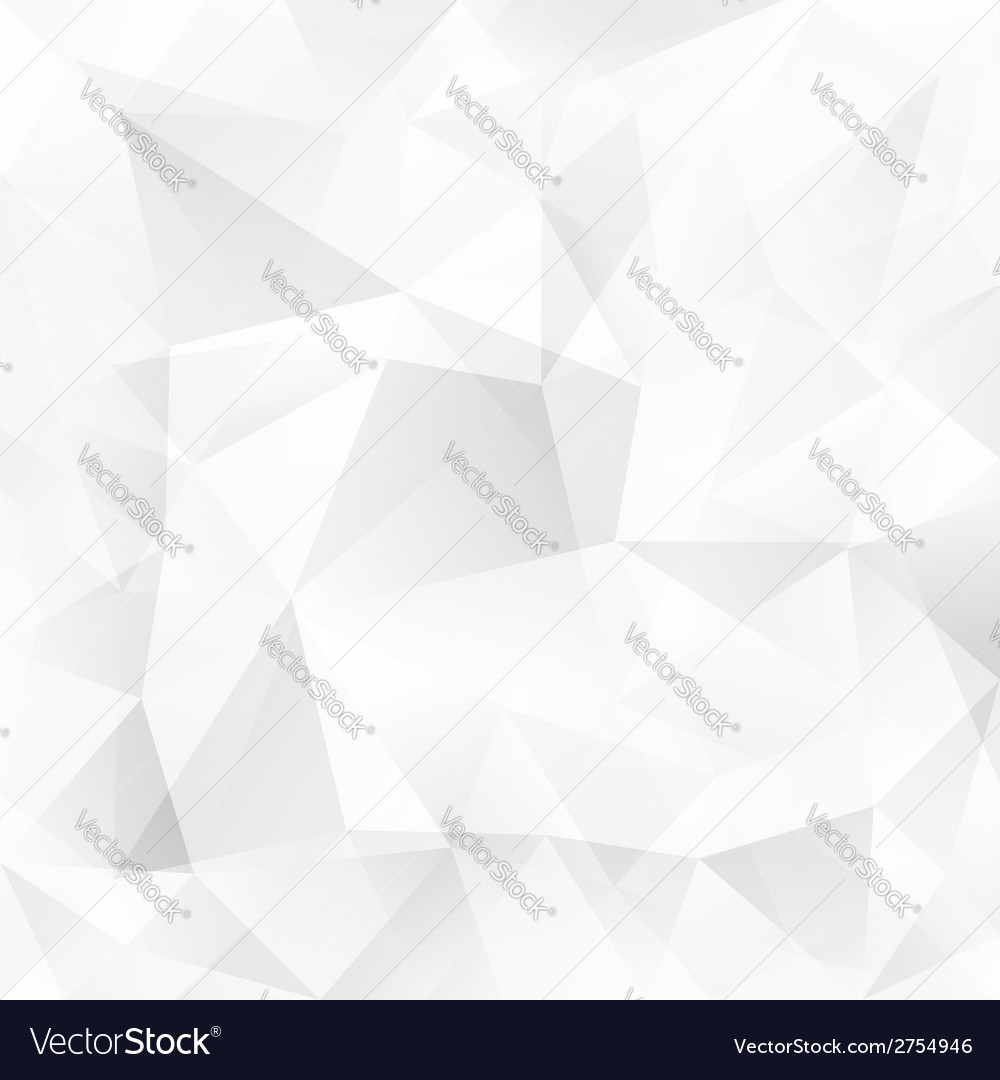 White crystal triangles abstract background
