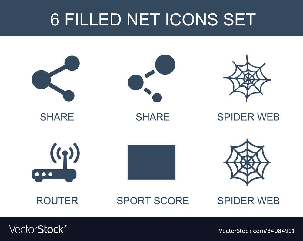 6 net icons