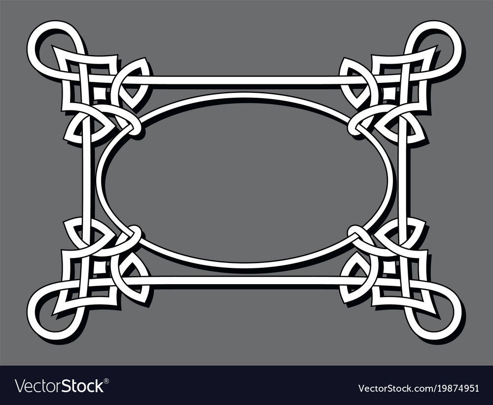 Abstract celtic frame